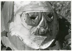 Charles Moore's likeness, medium: pumpkin