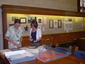 "Donna and Meghan working on ""Maya Architecture"""