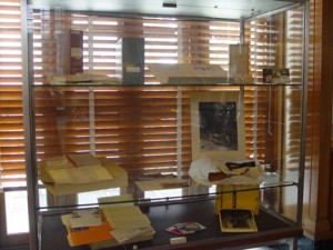 Objects from the George F. and Geraldine Andrews collection on display.