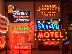Just a small sample of the signs at the American Sign Museum!