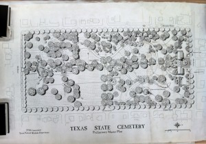 """Texas State Cemetary."" JVR & Association. c.1995 James G. Reeves records, Alexander Architectural Archive, University of Texas Libraries, The University of Texas at Austin"
