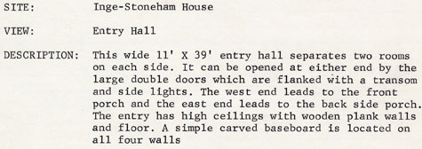 Inge-Stoneham entry hall description