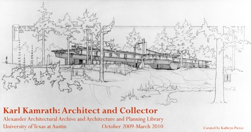 Karl Kamrath exhibition on view at the Architecture & Planning Library Reading Room