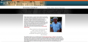The original Eugene George Exhibit built in Drupal 6.