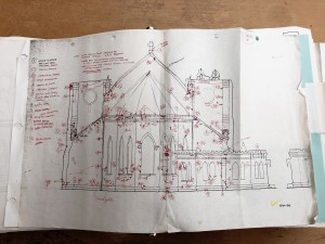 Field Sketches for the St. Patrick's Cathedral completed approximately 1994. This was part of an initial condition assessment that outlines potential issues to be addressed during renovations.