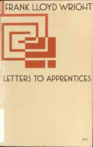 Wright - Letters to Apprentices Cover